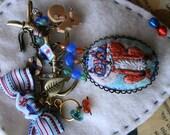 Fox Lovers Gift - Nerd Little Fox Brooch in Blue