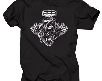 car engine mechanic muscle car racing cool t shirt. Black Bedroom Furniture Sets. Home Design Ideas