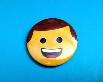 Emmett Pinback Button (from Lego Movie)