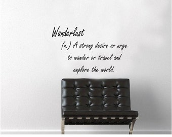 Wanderlust Definition Wall Decal