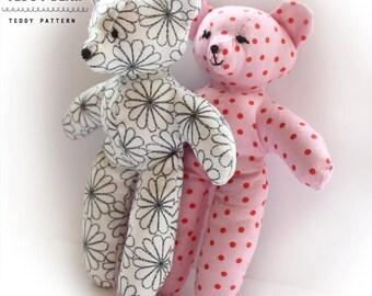 Teddy Bear Plush Sewing PATTERN