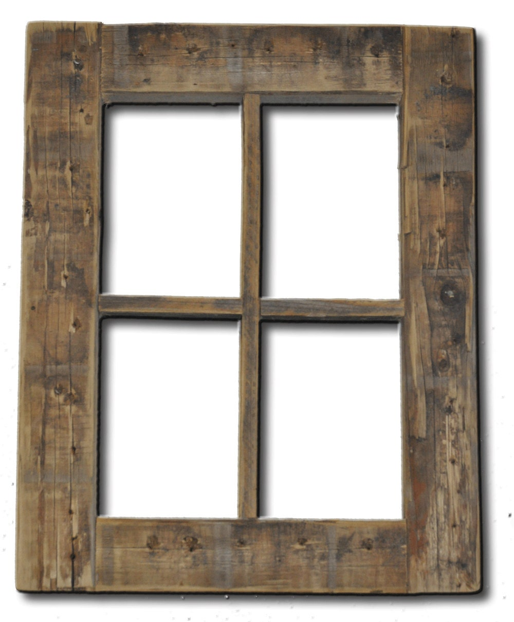 Wood Window Frames : Primitive rustic weathered wood window frame
