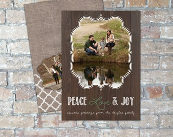 Rustic Holiday Card {Digital Item}