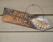 Hand Painted Wood Sign ~Spring Decor~ Distressed Picket Fence Sign