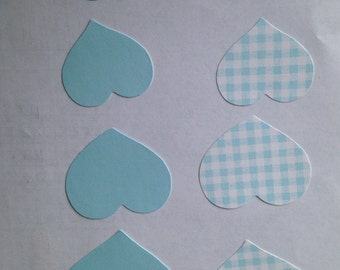 CTMH Baby Blue Patterned Paper Hearts