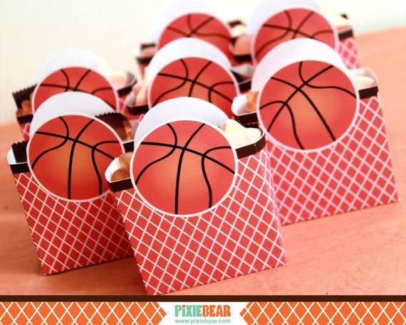 Basketball Birthday Favor Box Basketball Party by ...