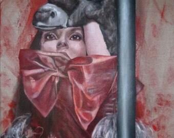 Donkey skin, 50x100cm, acrylic on canvas.