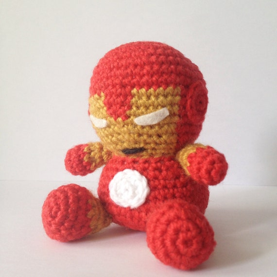 Free Amigurumi Superhero Patterns : IRONMAN Amigurumi Pattern SuperHero Avengers Marvel Easy DIY