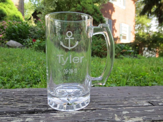Engraved Wedding Mugs : Nautical Wedding Engraved Beer Mugs, Wedding Nautical Party Engraved ...