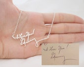 30% OFF! Signature Necklace/Multiple Lines Signature Necklace in Silver/Handwriting necklace/Bridesmaid Gift/Mother Gift