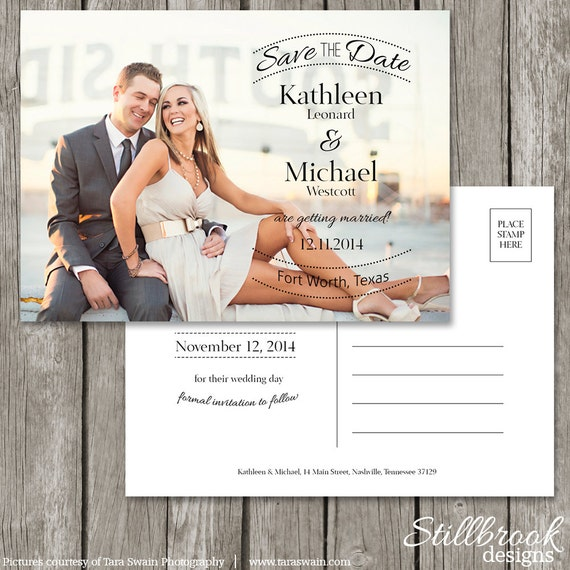 Save The Date Postcard Template Wedding Photo Save The Date