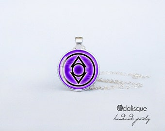 Indigo Lantern Corps Handmade Pendant  Silver Necklace