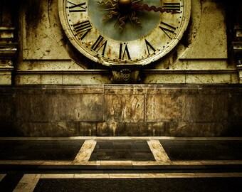 Rustic Clock Photography Backdrop