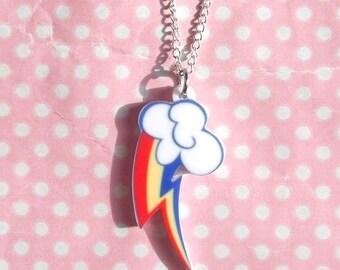 Rainbow Dash cutie mark My Little Pony Friendship Is Magic necklace