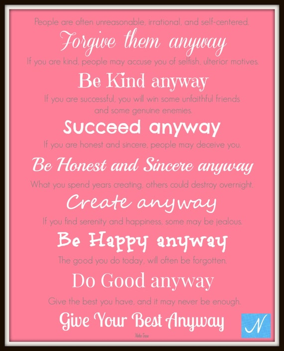 Mother Teresa Quotes People Are Often: Mother Teresa Quote Give Your Best Anyway By NicolesNook1213