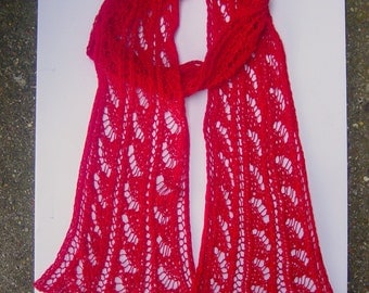 Thin Lace Scarf Women/Ladies Hand Knitted Thin Wool Blend