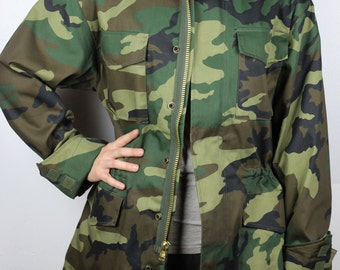 Woodland Camouflage M-65 Field Jacket with Removeable Liner