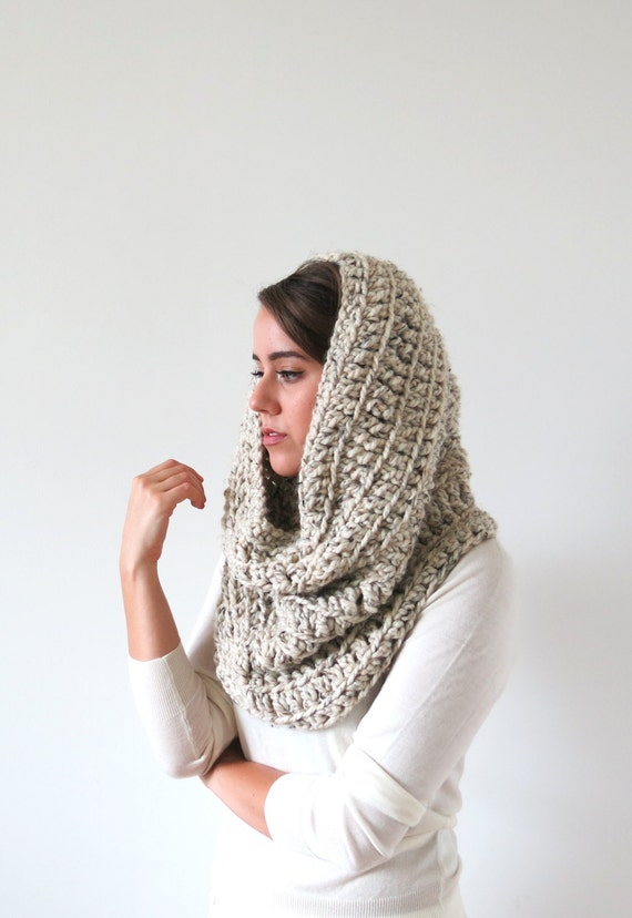 crochet snood hood . crochet hood . hooded cowl . by TARSTITCH