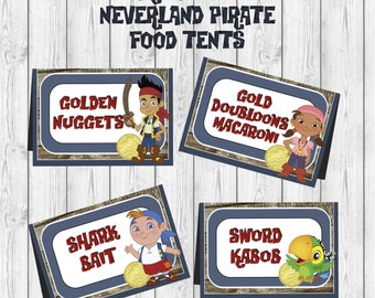 Disney Jake and the Neverland Pirates Birthday Food Tent label printable diy Party Printable  sc 1 st  Etsy & Jake food label | Etsy