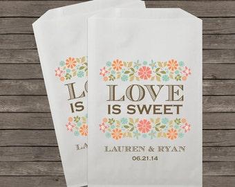 Wedding Favor Bags, Candy Buffet Bags, Candy Bar Bags, Favor Bags, Rustic Wedding, Candy Bar,  Treat Bags, Custom Favor Bags, Kraft 063