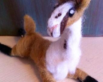 Lilly the Llama - Needle Felt Llama