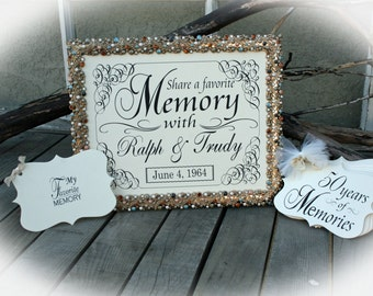 50th Anniversary Party Decor- Favorite Memory station