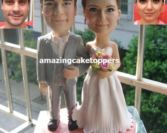 Custom Cake Toppers Funny 3D Wedding Topper Figurine Decoration Keepsake Bobble Head