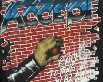 """DISCOUNT: Rare 1984 ACCEPT """" Balls To The Wall"""" European Tour"""