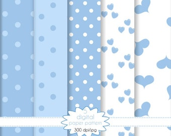 Paper blue collection-set of paper for scrapbooking