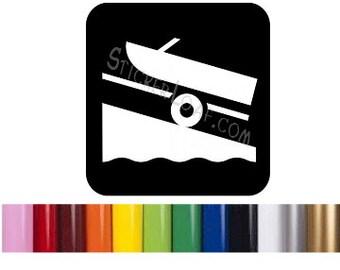 Boat Dock Sign Sticker Boating Yachting DECAL Fishing Beach car truck window vinyl wall sticker