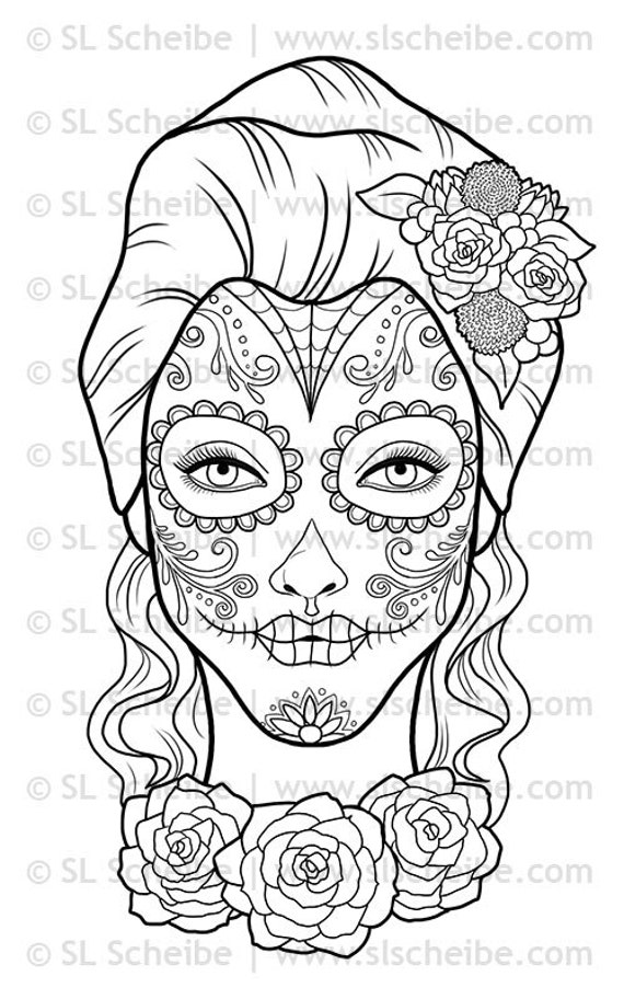 Day Of The Dead Mask Coloring Pages Coloring Pages Day Of The Dead Mask Coloring Pages