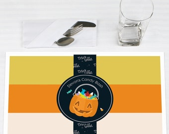 Set of 12 Trick or Treat Halloween Placemats - Halloween Party Supplies