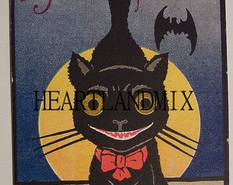 Black Cat Vintage Digital image