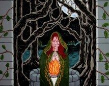 Brigit Poster, Brighid Print, 16 x 20 Poster, Goddess Poster, Celtic Art, Goddess Art, Brighid, Sacred Feminine, Celtic Goddess, Wall Art