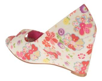 Georgia Floral Ladies/Women's Wedge Shoes