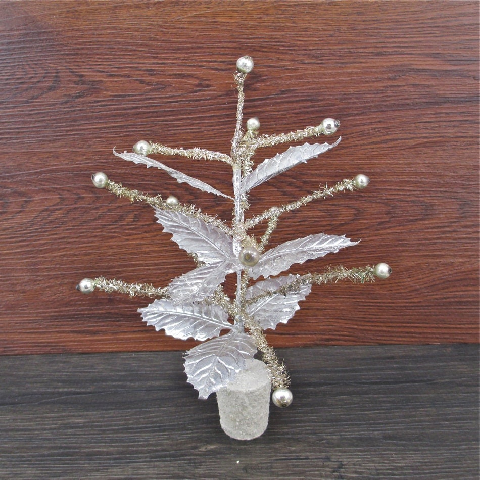 Vintage Tinsel Christmas Tree 1950's Silver by ...