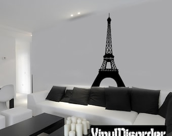 Paris Eiffel Tower Wall Decal - Vinyl Decal - Car Decal - skylinebuildingsal07ET