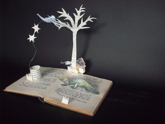 Peter Pan Book Sculpture