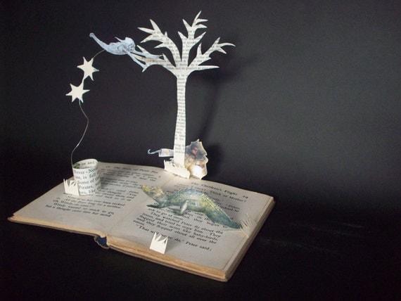 Peter Pan Book Sculpture