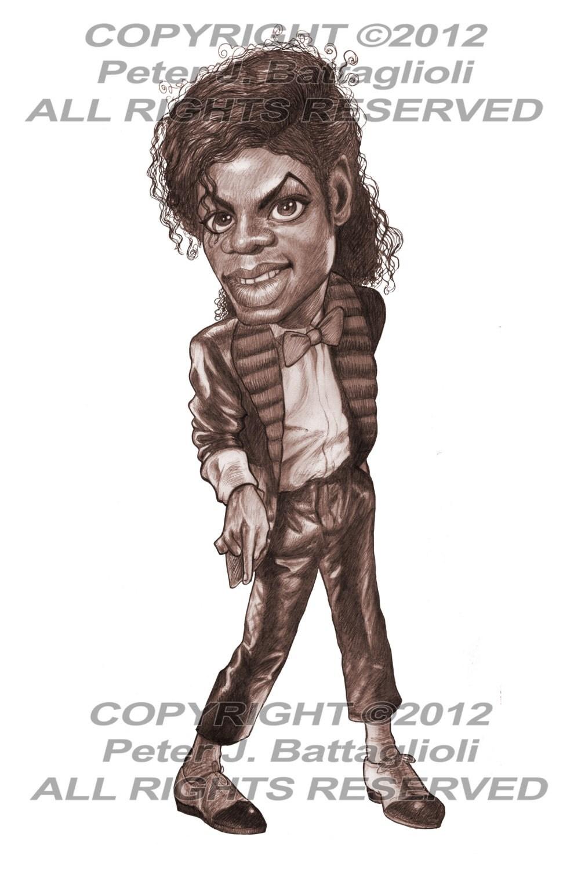 Caricature Michael Jackson T Auto Electrical Wiring Diagram Yamaha Viking Yxm700pse Billie Jean Poster Art Limited