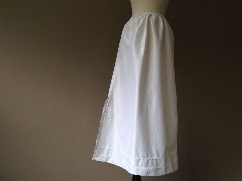 l half slip maxi skirt white taffeta by lustnlux