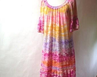 Vintage pink LEONARD Dress - Paris, 70's