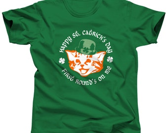 St Catrick Cat Shirt - St Patrick Day Shirt - St Patricks Shirt St Patricks Outfit - St Paddys Day Shirt (See SIZING CHART in Item Details)
