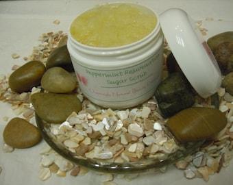 Peppermint Rejuvenation Sugar Scrub - All Natural, Handmade