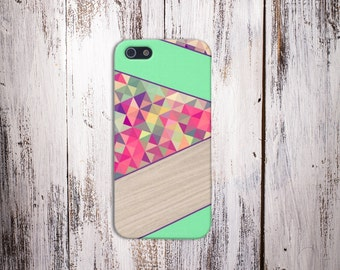 Mint Pink Polygon Case, iPhone 7, iPhone 7 Plus, Protective iPhone Case, Galaxy s8, Samsung Galaxy Case Note 5, CASE ESCAPE, Google Pixel