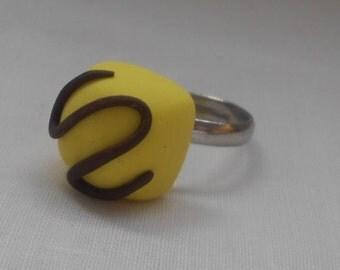 DM Lemon Fondant Fancy Polymer Clay Ring