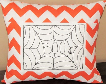 "5x7"" Spiderweb hand embroidery pattern.  Perfect for Halloween!"