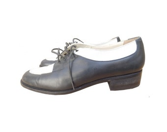 MANSFIELD 90s vintage  two tones oxford LEATHER shoes // size eu 37 // us 5.5 // uk 4