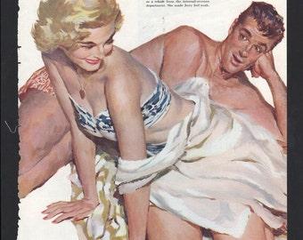 Original Saturday Evening Post illustration circa 1940s artist Joe DeMers - 441