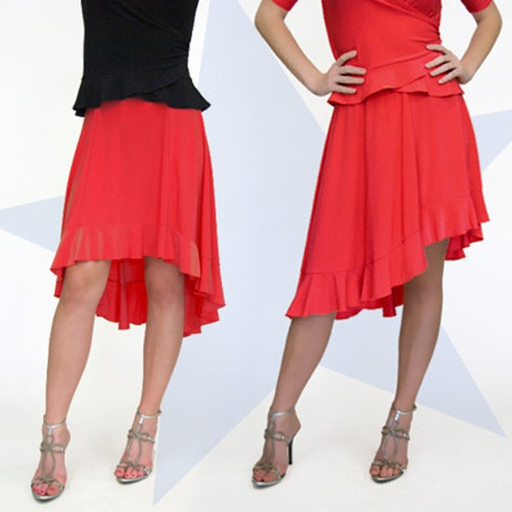 items similar to high low ruffle skirt coral on etsy